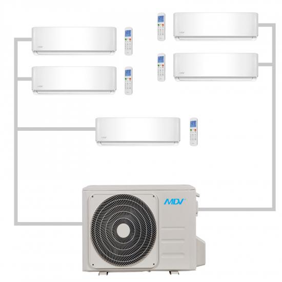 Мульти-сплит система MDV MD5O-42HFN1 на 5 комнат